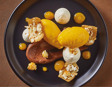 Cheescake Mangue Pop-corn revisité